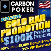 Carbon Poker Gold Bar Promo